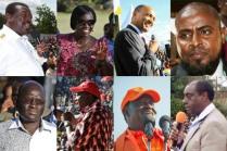 Da in alto a sinistra: Wycliffe Musalia Mudavadi, Martha Wangari Karua, Peter Kenneth, Mohammed Abduba Dida, Paul Kibugi Muite, Raila Amollo Odinga, Uhuru Muigai Kenyatta, and James ole Kiyiapi.